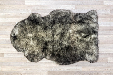 Image of White Grey Tips Single Sheepskin Rug 60cm x 105cm