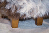 Image of A cute NZ wool sheepskin footstool