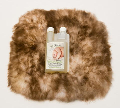 Image of Small Sheepskin Pet Bed and Cleaning Products