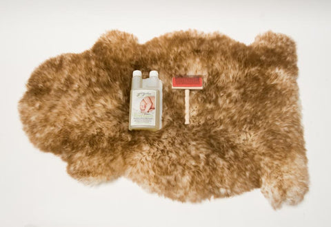 Image of Large Sheepskin Pet Bed and Cleaning Products