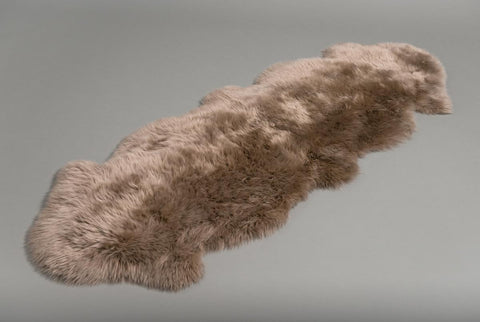 Image of Taupe Beige Double Sheepskin Rug