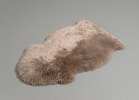 Image of Taupe Beige Dyed Single Sheepskin Rug