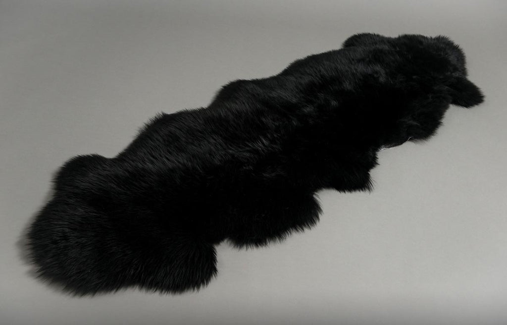 Black Dyed Double Sheepskin Rug