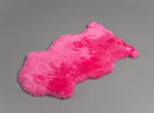 Bright Hot Pink Dyed Single Sheepskin Rug