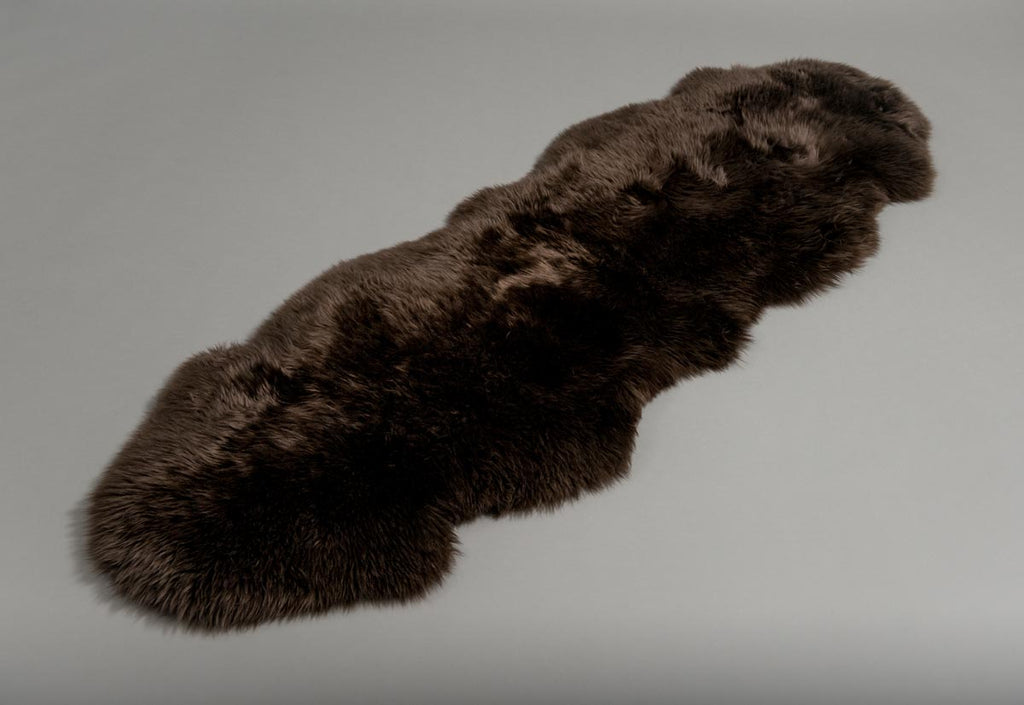 Chocolate Brown Double Sheepskin Rug
