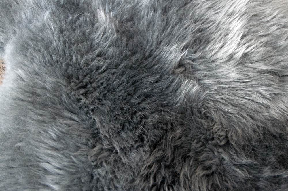 Grey Longwool Double Sheepskin Rug