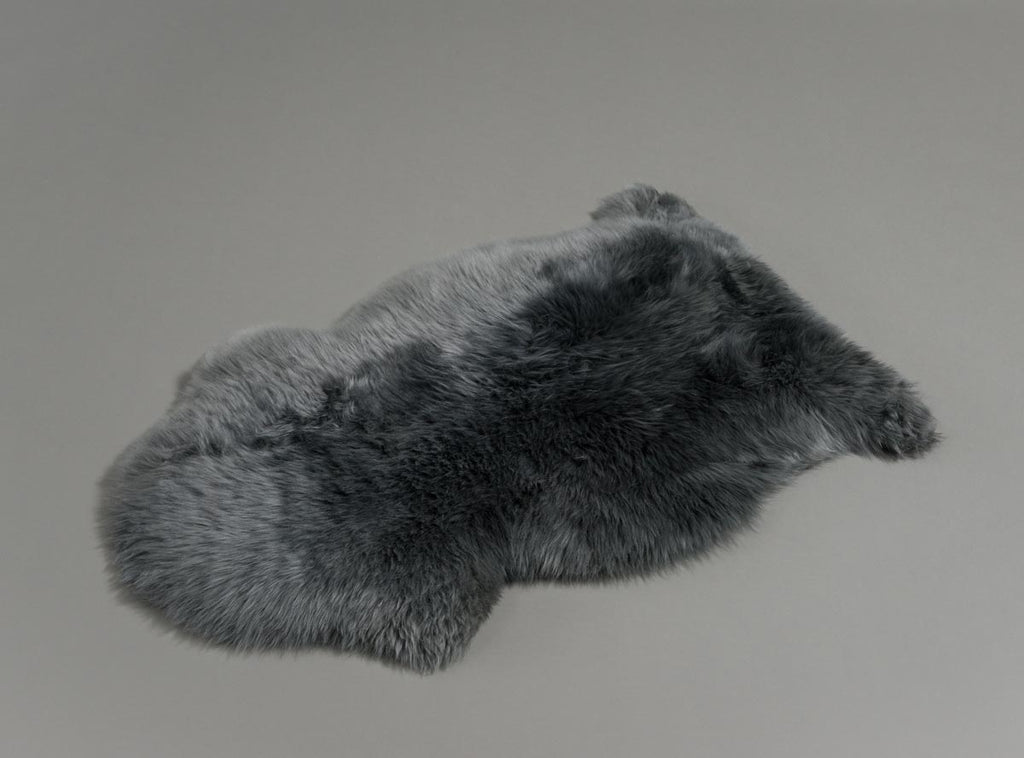 Grey Dyed Single Sheepskin Rug