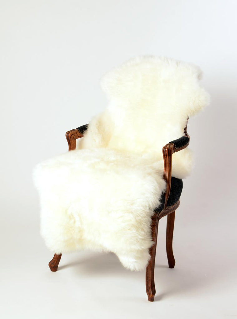 Ivory Wool Sheepskin Rug - One and a Half 1.5 Skins