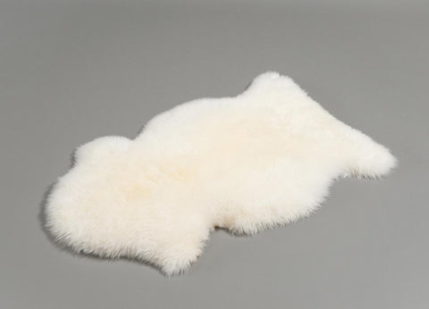 Image of Ivory Wool Sheepskin Rug - Medium Single Skin