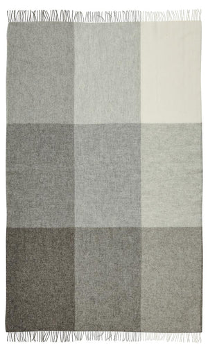 St Bathans Lambswool Throw Blanket - Charcoal