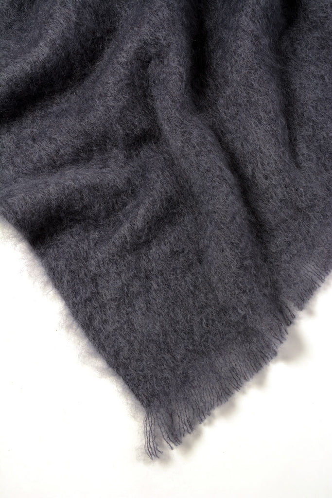 Windermere Storm Grey Mohair Chair Throw