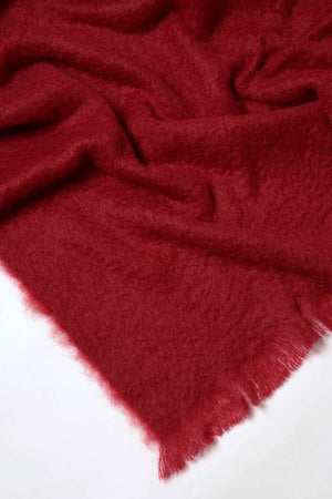 Tamarind Red Mohair Throw Blanket