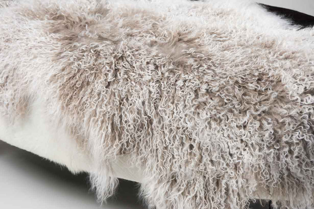 Taupe Frosted Tibetan Lamb Skin
