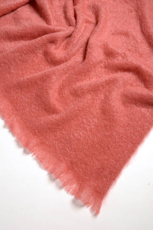 Tea Rose Pink Mohair Chair Throw