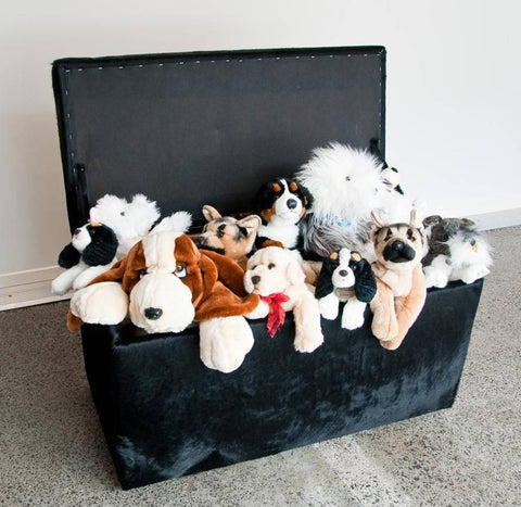 Image of Cowhide storage trunk ottoman furniture