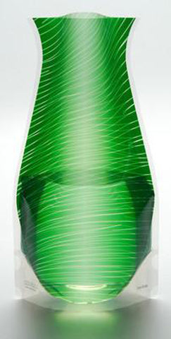 Image of Plastic Expandable Flower Vase - Transisto Green