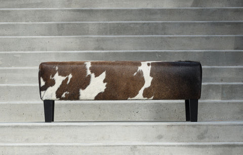 Cowhide Ottoman Australia with Wood Legs 110x60x40cm Gorgeous Creatures