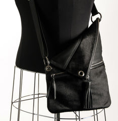 Trio Versatile Shoulder Handbag - Dyed Black