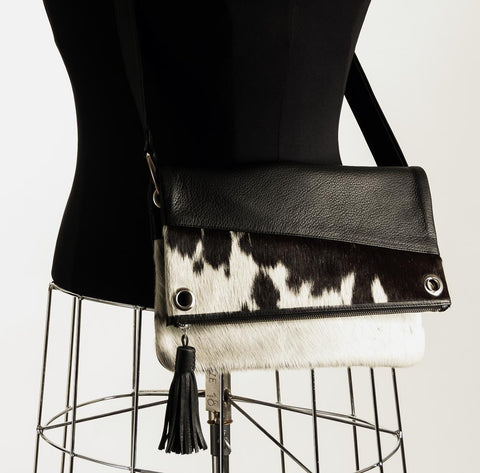 Image of Trio Versatile Shoulder Handbag - Black & White #4