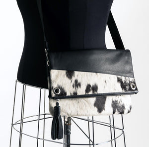 Trio Versatile Shoulder Handbag - Black & White #6