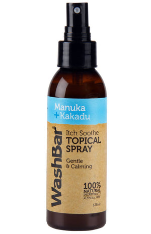 Washbar Itch Soothe Topical Spray Manuka+Kakadu 125ml