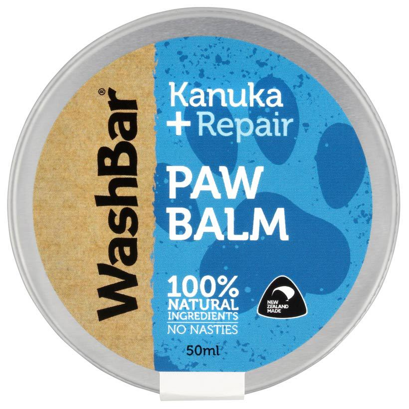 Washbar paw balm for dogs