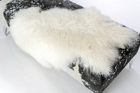 Image of White Tibetan Lamb Skin