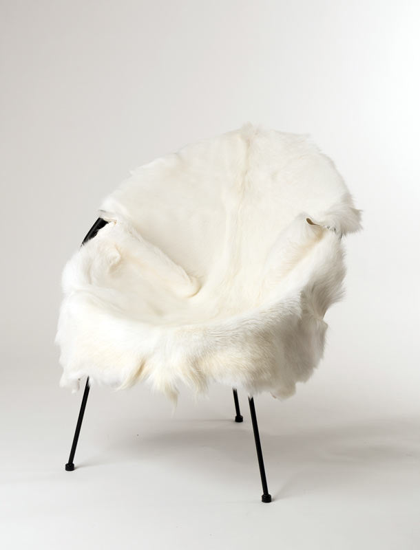 White Milk Goat Skin