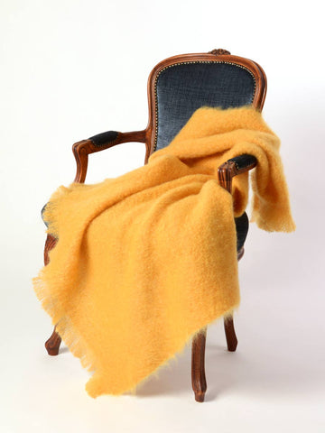 Image of Mohair throw Australia - Windermere Yellow ochre