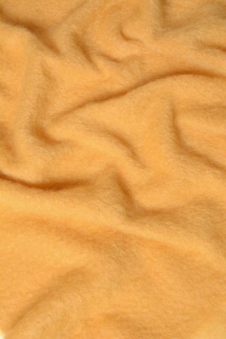 Image of Yellow ochre mohair chair throw