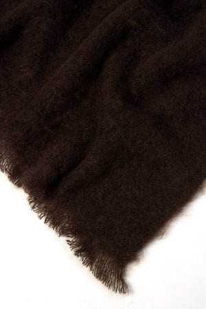 Chocolate Brown Mohair Throw Blanket