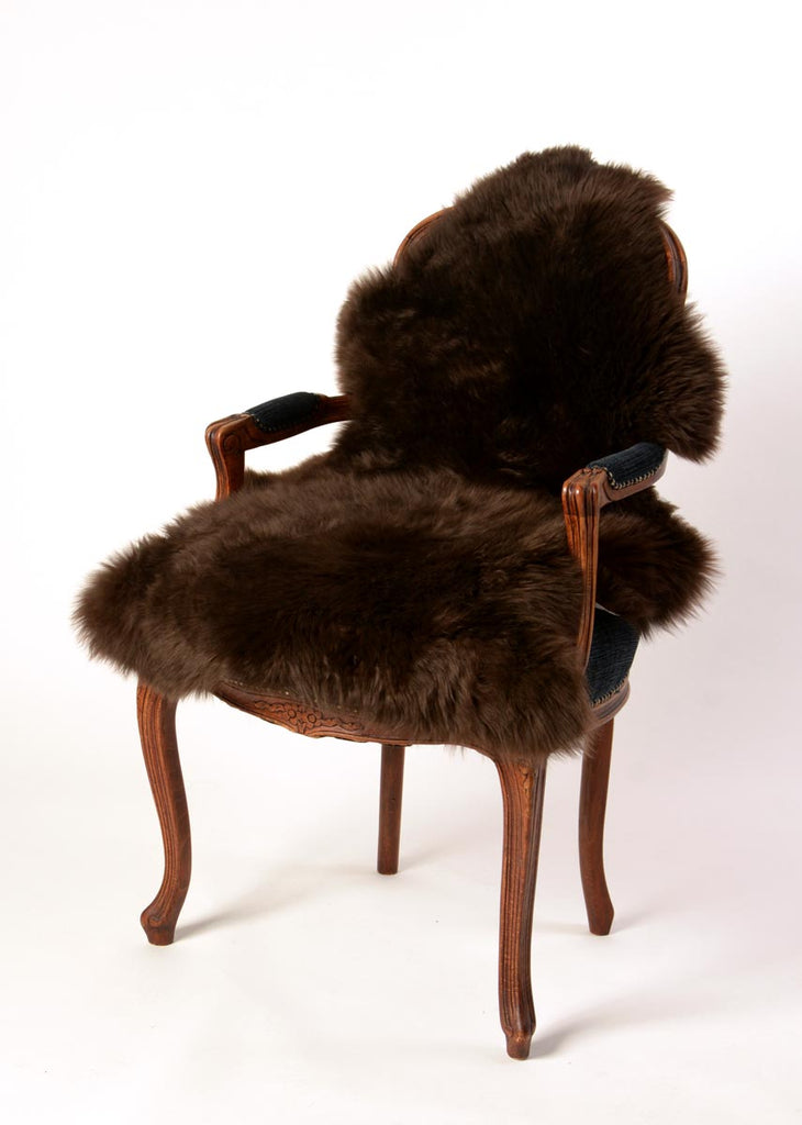 Chocolate Brown Dyed Single Sheepskin Rug