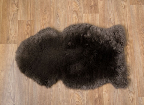 Image of Chocolate Brown Dyed Single Sheepskin Rug