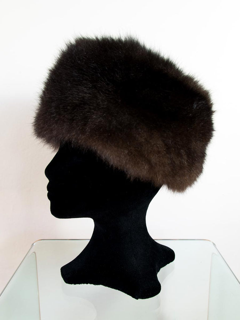 Russian Cossack Taller Possum Fur Hat - Chocolate Brown