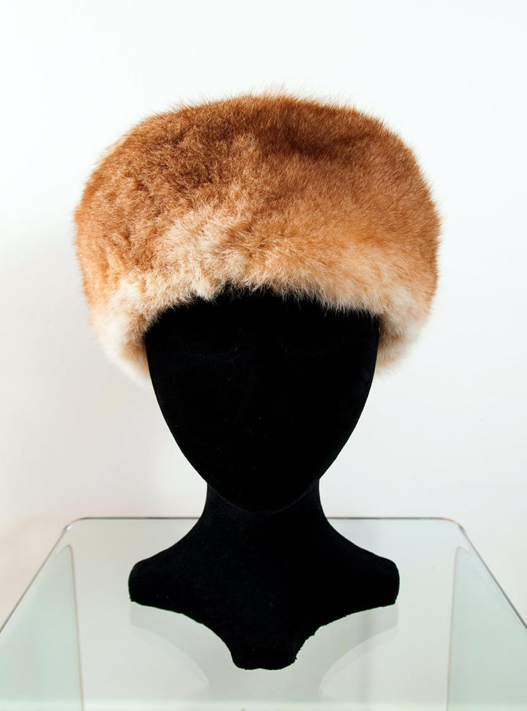0f601d48d Russian Cossack Shorter Design Possum Fur Hat - Honey