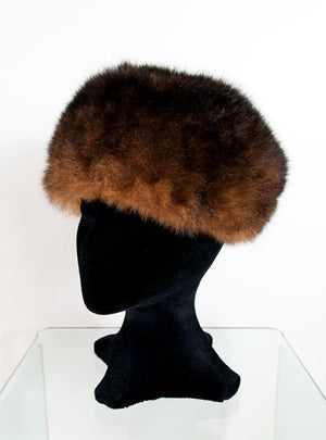 7d733d4bbba Russian Cossack hat in possum fur   leather lined with velvet made NZ