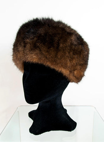 Russian Cossack Shorter Possum Fur Hat - Chocolate Brown