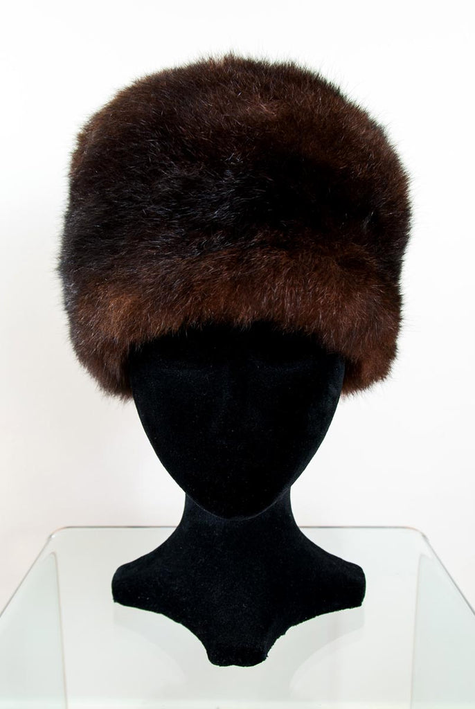 Russian Cossack Taller Possum Fur Hat - Reddish Brown
