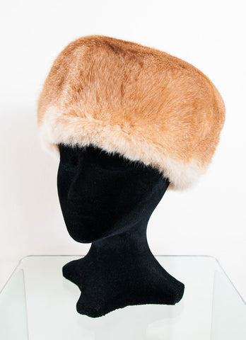 Image of Russian Cossack Taller Design Possum Fur Hat - Honey