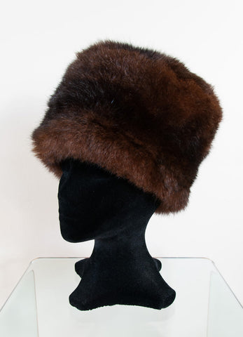 Image of Russian Cossack Taller Possum Fur Hat - Reddish Brown