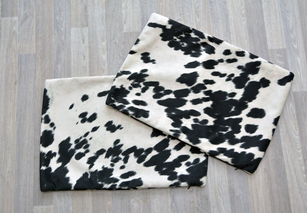 Faux Cowhide Cushion Covers - Rectangle