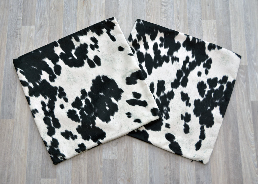 Faux Cowhide Cushion Cover - Square