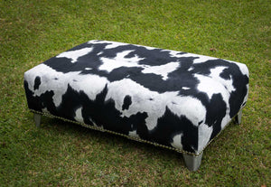 Fabric upholstered ottoman furniture