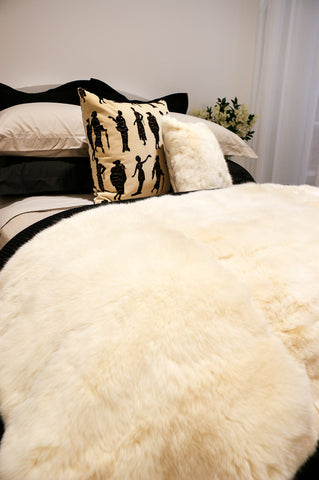 Image of Cream Possum Fur Blanket