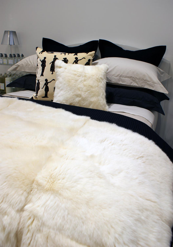 Cream Possum Fur Throw