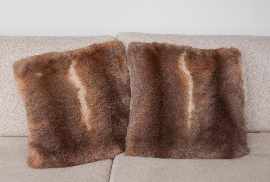 Honey possum fur cushions New Zealand