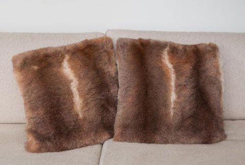 Image of Honey possum fur cushions New Zealand