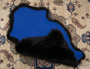 Any Single Longwool Sheepskin Rug Lined With Fabric