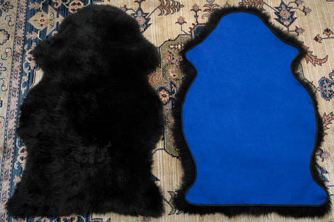 Sheepskin Rug Lined With Fabric
