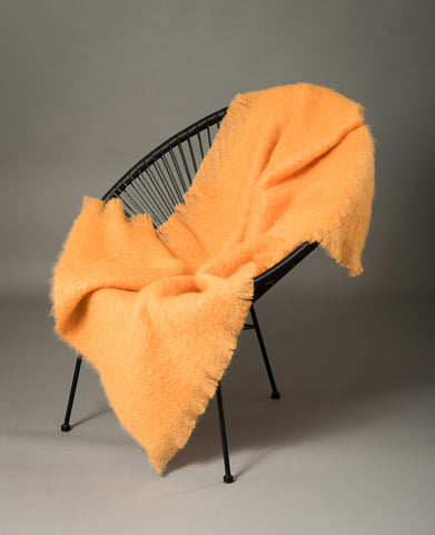 Windermere Mango Orange Mohair Chair Throw